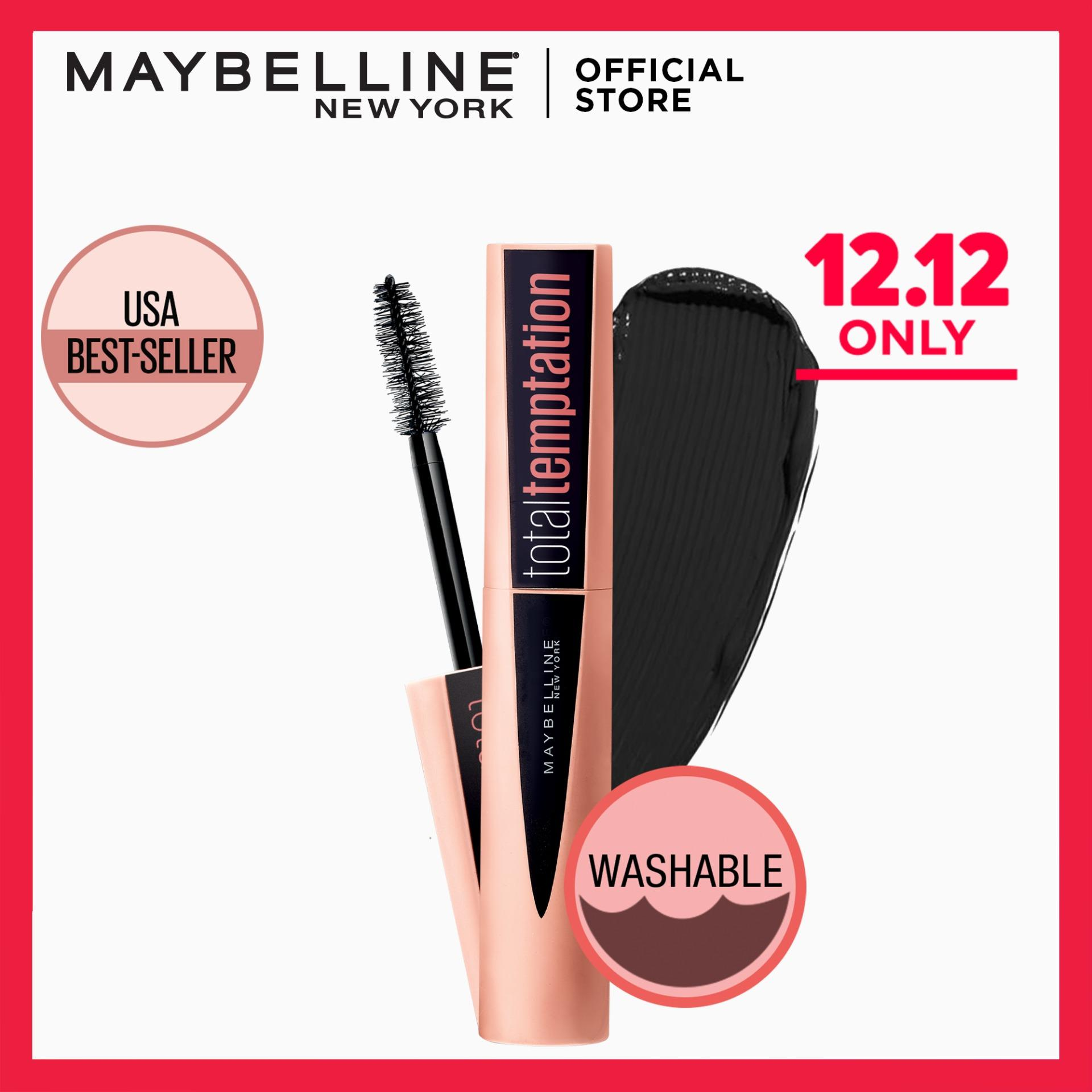Total Temptation Washable Mascara by Maybelline - Very Black Philippines