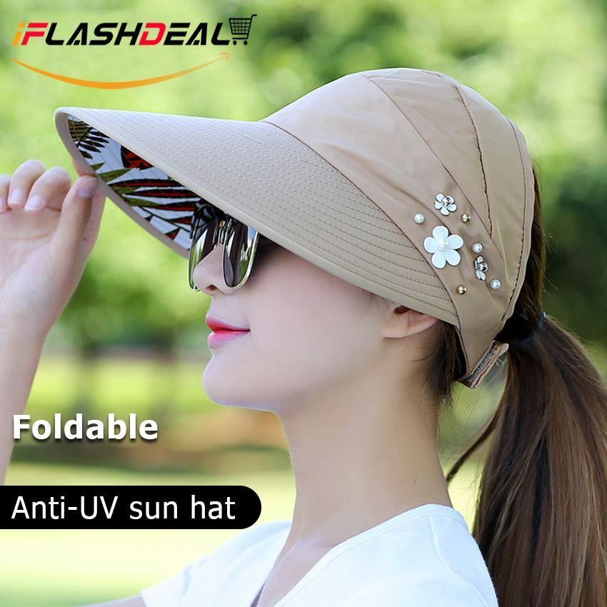 65eb3fd0 iFlashDeal Women Summer Hats Anti-UV Wide Brim Caps Floppy Fold Summer Sun  Hat Lady