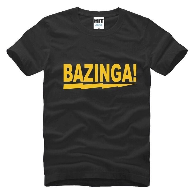 The Big Bang Theory Sheldon Bazinga Printed Mens Men T Shirt T-shirt  Fashion 2018 cbc8caebfe1