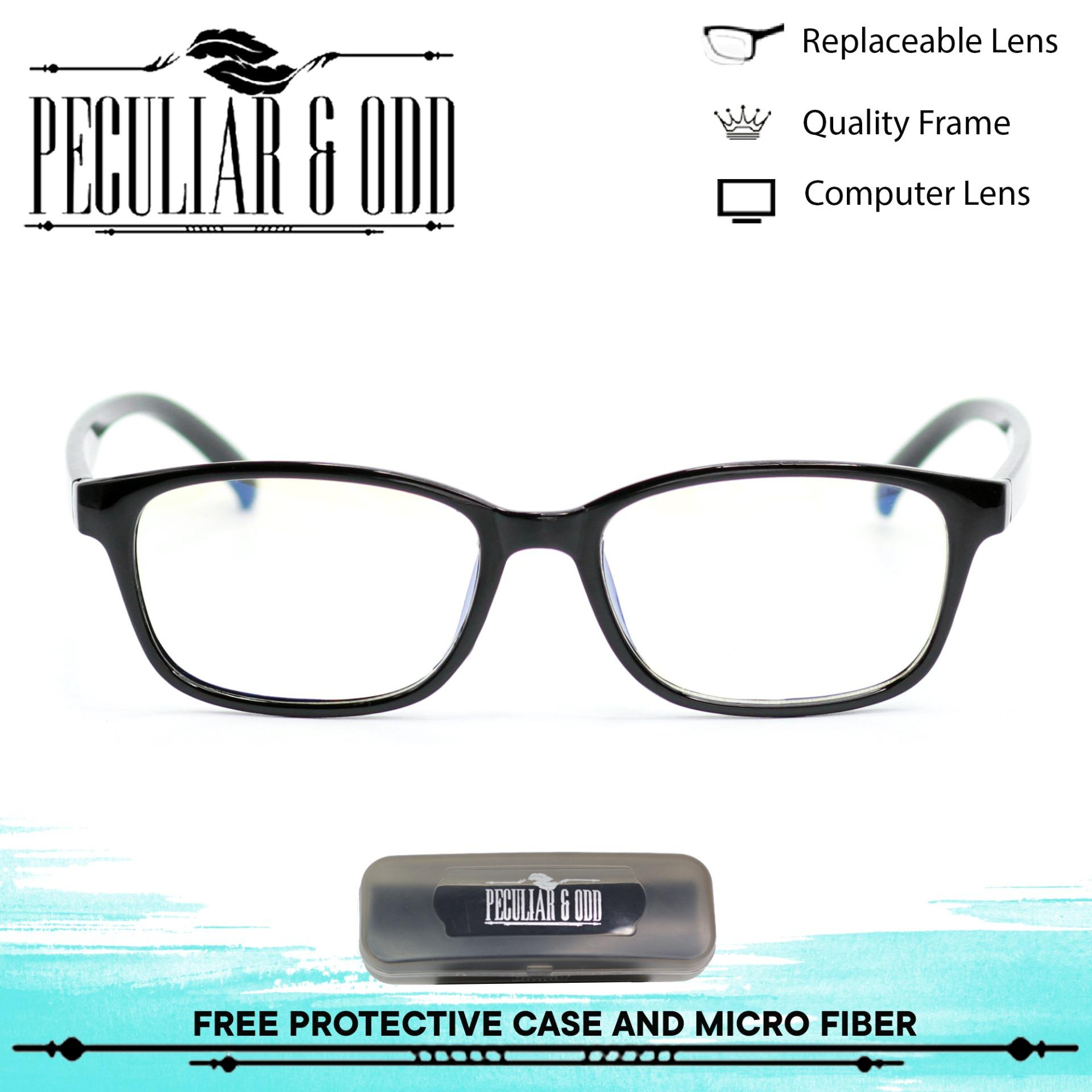 860cb6b718 Peculiar Square 3028 CoalBlackClear Anti Radiation Computer Eyeglass Optical  Replaceable Eyewear Unisex new