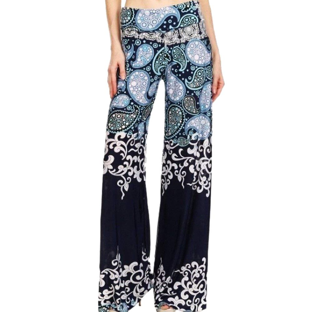 Pants & Capris Lovely New Hot Autumn Ladies Pants Wide Leg Trousers Vintage Loose Elastic Waist High Waist Folk Custom Print Milk Silk Casual Street Women's Clothing