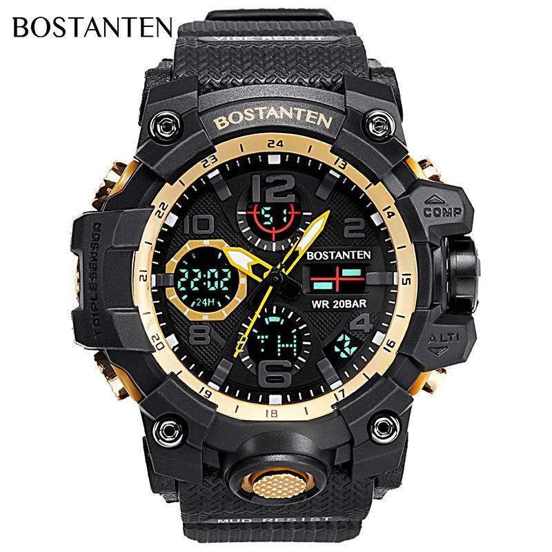 ccd3b1b98 BOSTANTEN Mens Watch On Sale Waterproof Watch For Men BOSTANTEN Original  Watches Latest Digital Sport Wristwatch