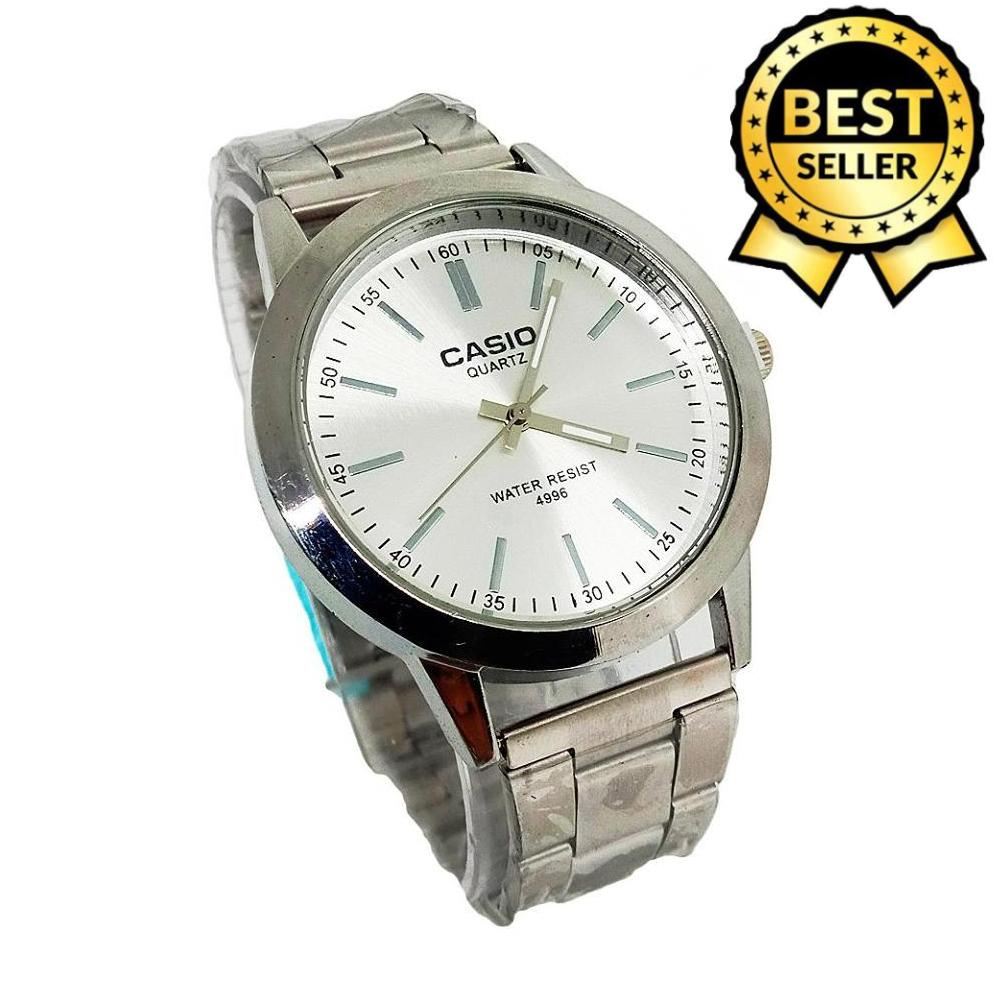 Casio Analog Silver Dial Stainless Steel Men's Watch
