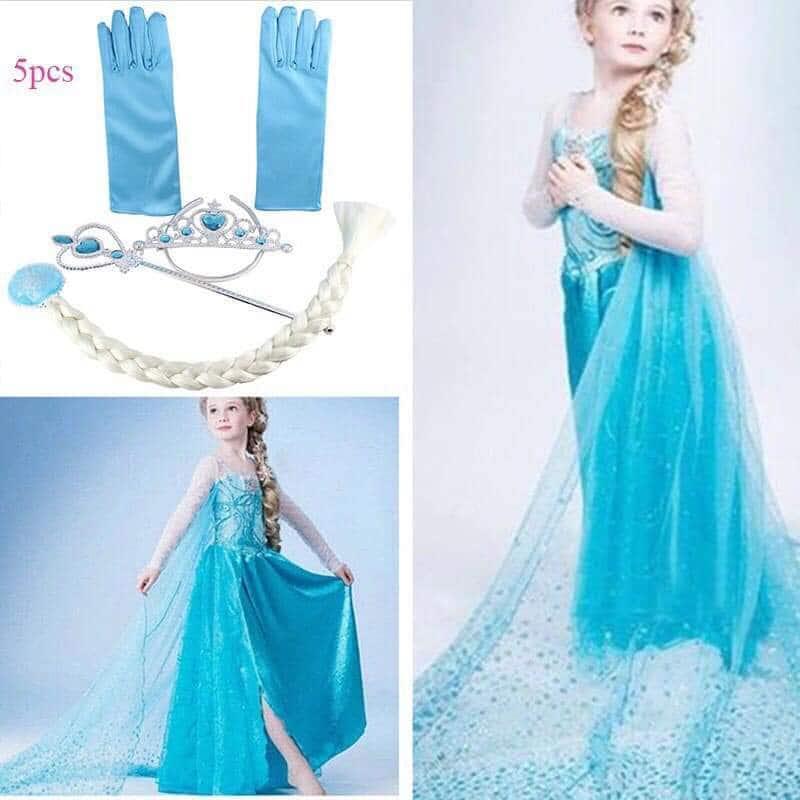 Frozen Elsa Costume Set For Kids