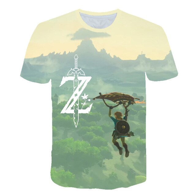 Zelda Link Breath of the Wild Kids T-Shirt Zelda T-Shirt for Girls and Boys