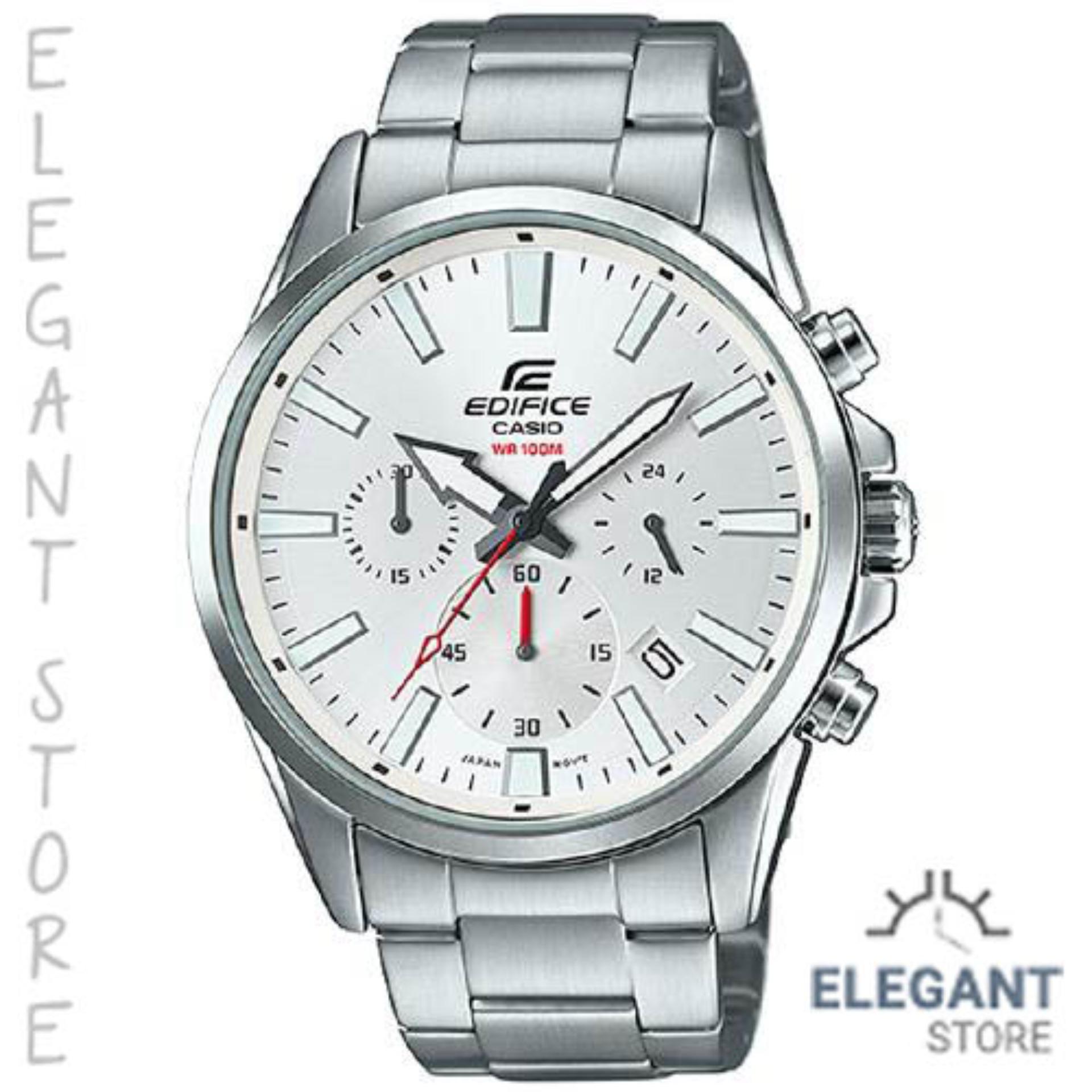 644180f66405 Casio Edifice EFV-510D-7A 100-meter water resistance men s watch Silver