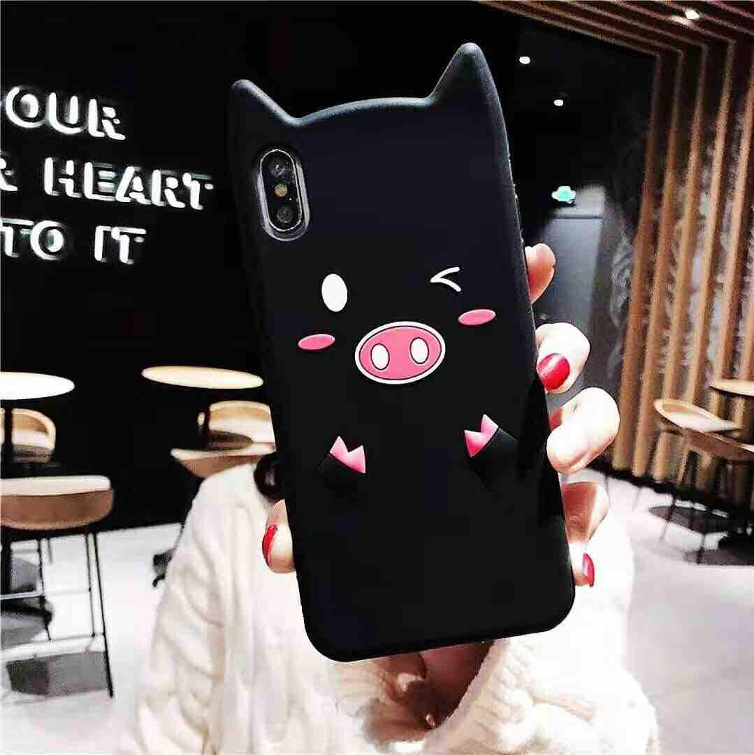 For Oppo A33/Neo7 3D Cartoon Cute Pig Rubber Case for oppo a33/neo7