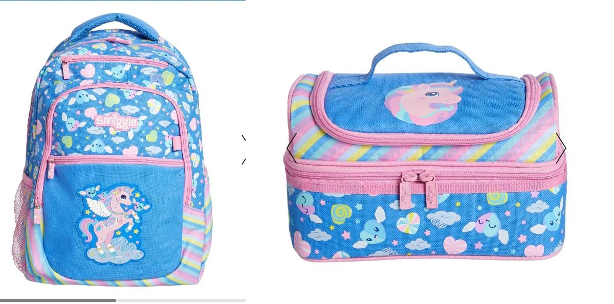 Deja Vu Cornflower Collection Backpack And Lunch Bag Set By Smiggle Manila.
