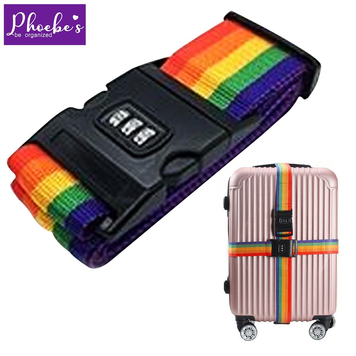 4886f360b Phoebes Travel luggage adjustable strap buckle safe belt number lock  Adjustable Bag Strap / Luggage Belt