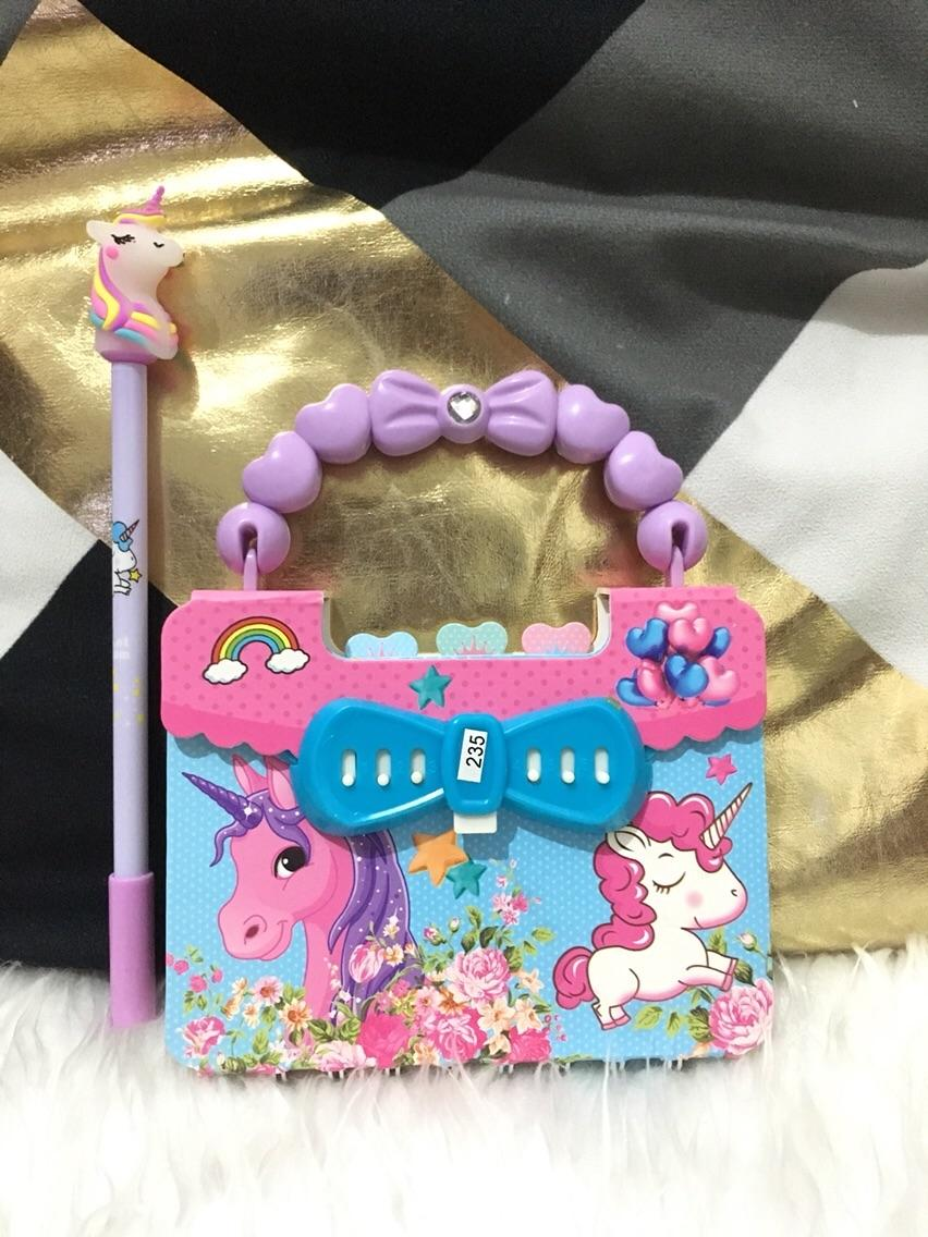 Diary Notebook For Kids With Lock With Pen - Unicorn For Girls By Ethan Paul Shop.