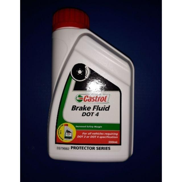 Dot 4 Castrol Brake Fluid 500ml By Heptagon Shop.