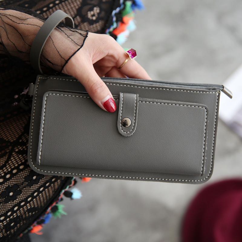 AMOG New Fashion Lady Purse PU Leather Wallet Zipper Wallet Purse Fashion  Card Holder Phone Bag e4c6f82d8f201