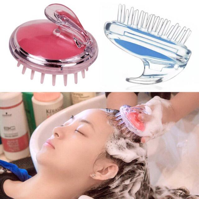 Silicone Comb Brush Scalp Massager Bath And Shampoo Hair Scrub with Box Assorted Color