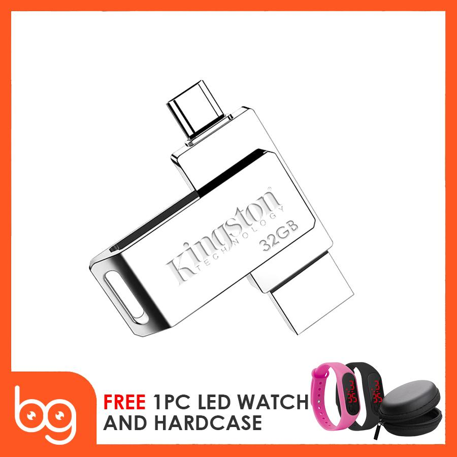 Kingston 32gb V3 Datatraveler Otg Usb Flashdrive 360 Rotation With Free M2 Led Watch By Better Goods.