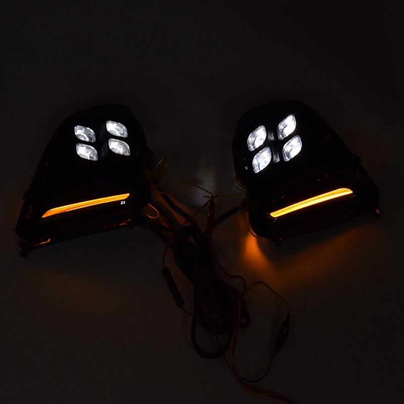 Car Daytime Running Lights Turn Signal Fog Lamp Cover 12V ABS LED DRL Car Styling for Chevrolet Cavalier 2016-2018