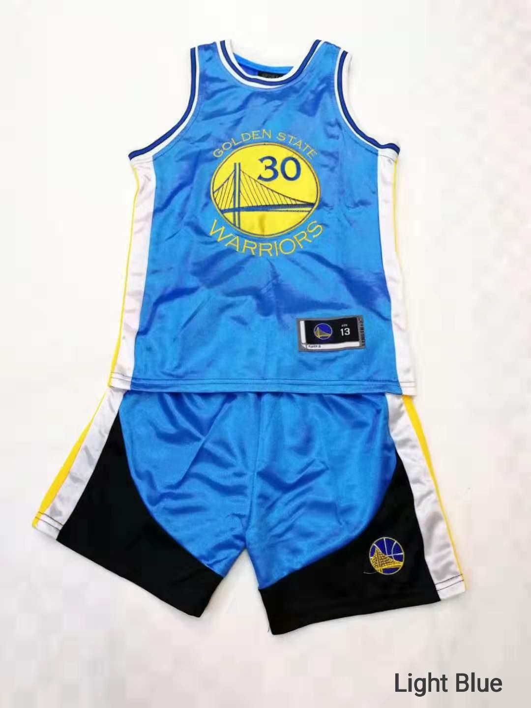 quality design cdfb4 b2a70 NBA Jersey unisex set golden state for kids boys girls curry #30 basketall  suit red blue black red yellow white #5002