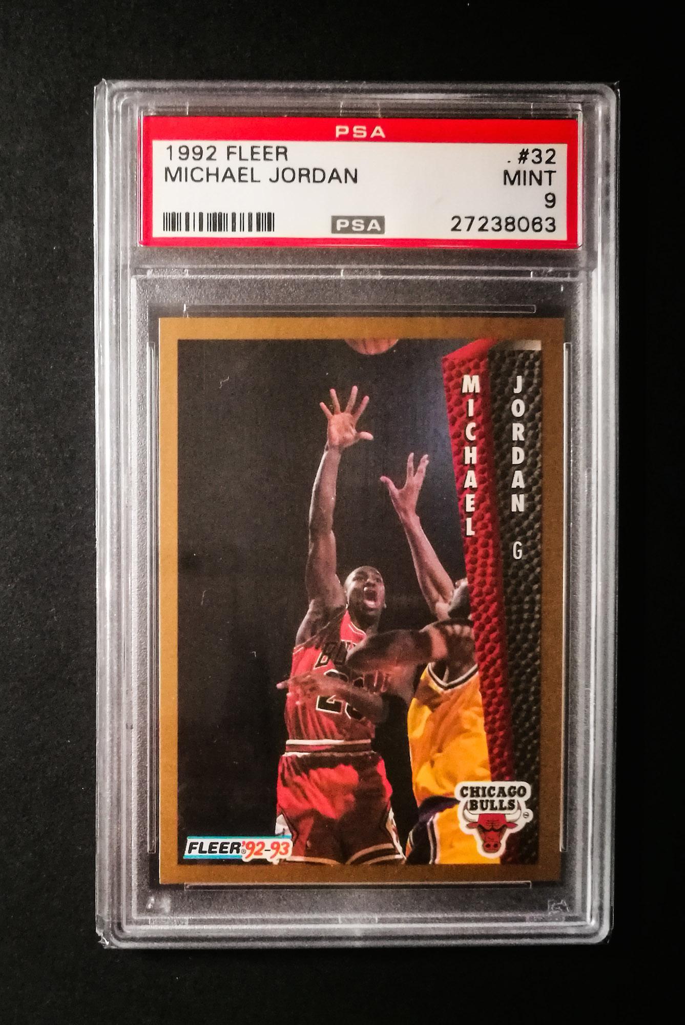 Michael Jordan 1992 93 Fleer 32 PSA 9 MINT Basketball Card