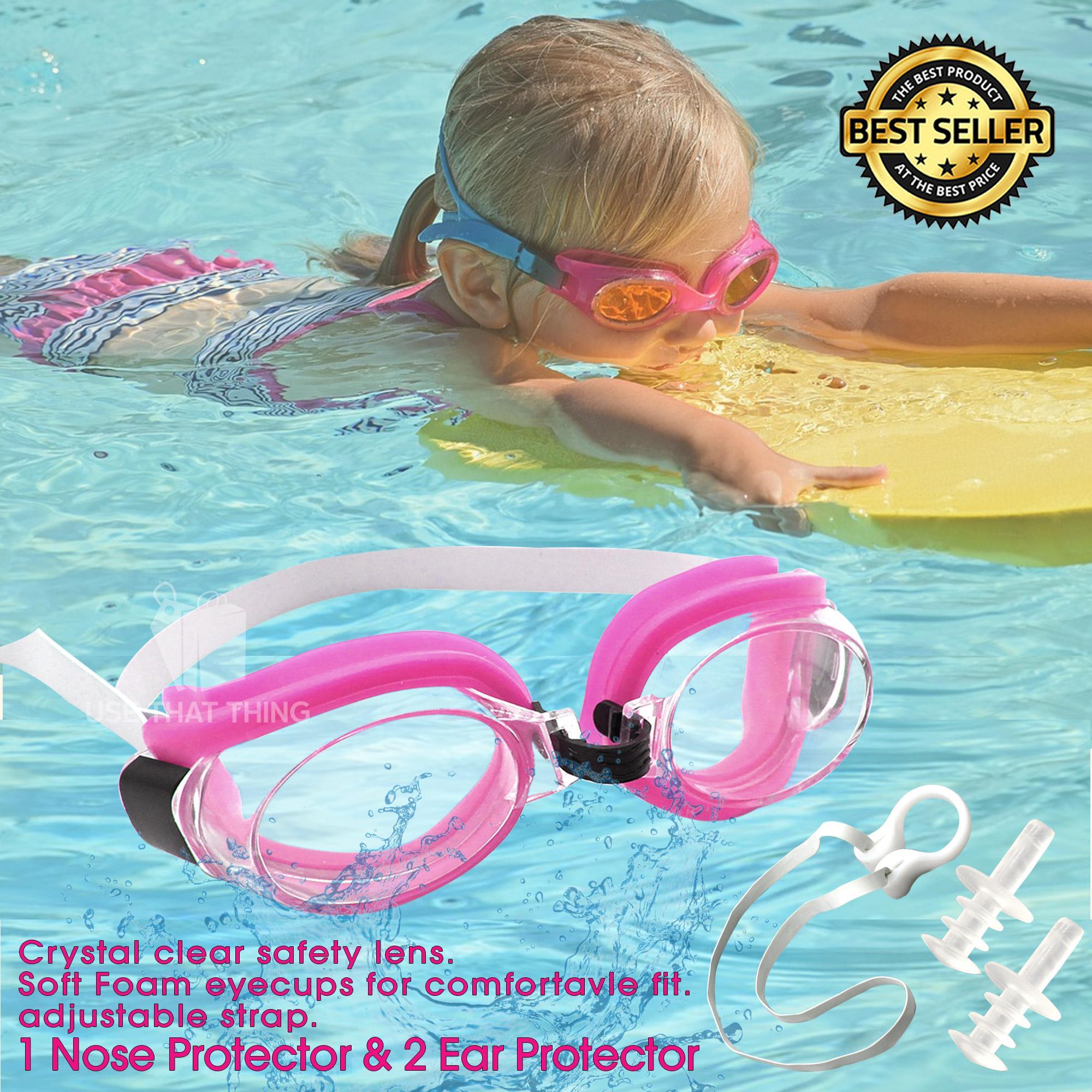 b2cc9bd27f3d Swimming Goggles Waterproof Anti Fog Anti UV Soft Framework Swim Glasses  for kids and Adult