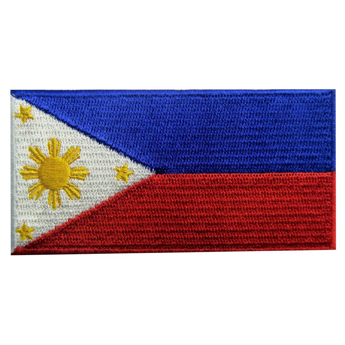 Philippines Flag Embroidered Velcro Sew On Patch Filipino National Emblem Best Accessories For Backpack Jacket Vest By Tonwon Electronic Tools Trading.