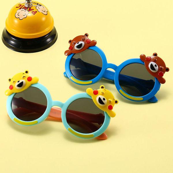 Giá bán 2020 Kính dành cho trẻ em dễ thương kính hoạt hình gấu màu tròn kính hình động vật gương nhạt, grfwsdhkuuh