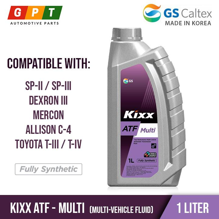 KIXX ATF Multi ( Fully Synthetic - 1 Liter ) for SP-II, SP-III, DEXRON III,  MERCON, Allison C-4, Toyota T-III and IV specifications