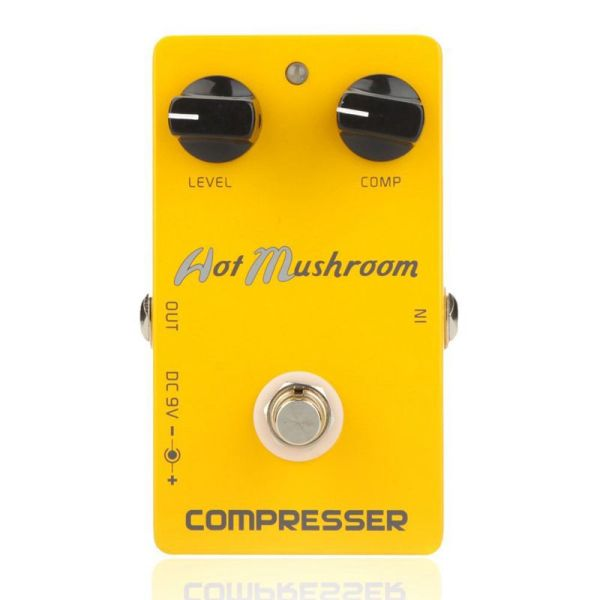 Caline CP-10 Compressor Guitar Effect Pedal Hot Mushroom Aluminum Alloy Housing Ture Bypass Orange