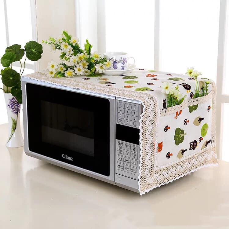 Anti-Oil and Dust Fabric Cover for Microwave Oven