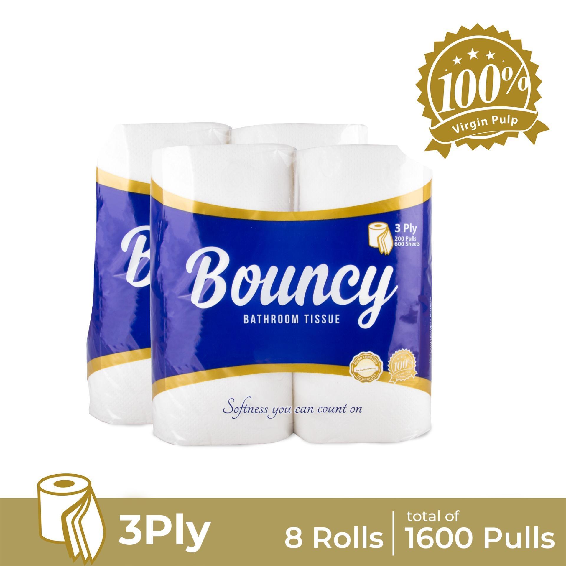 Bouncy Bathroom Tissue 3ply 200 Pulls X