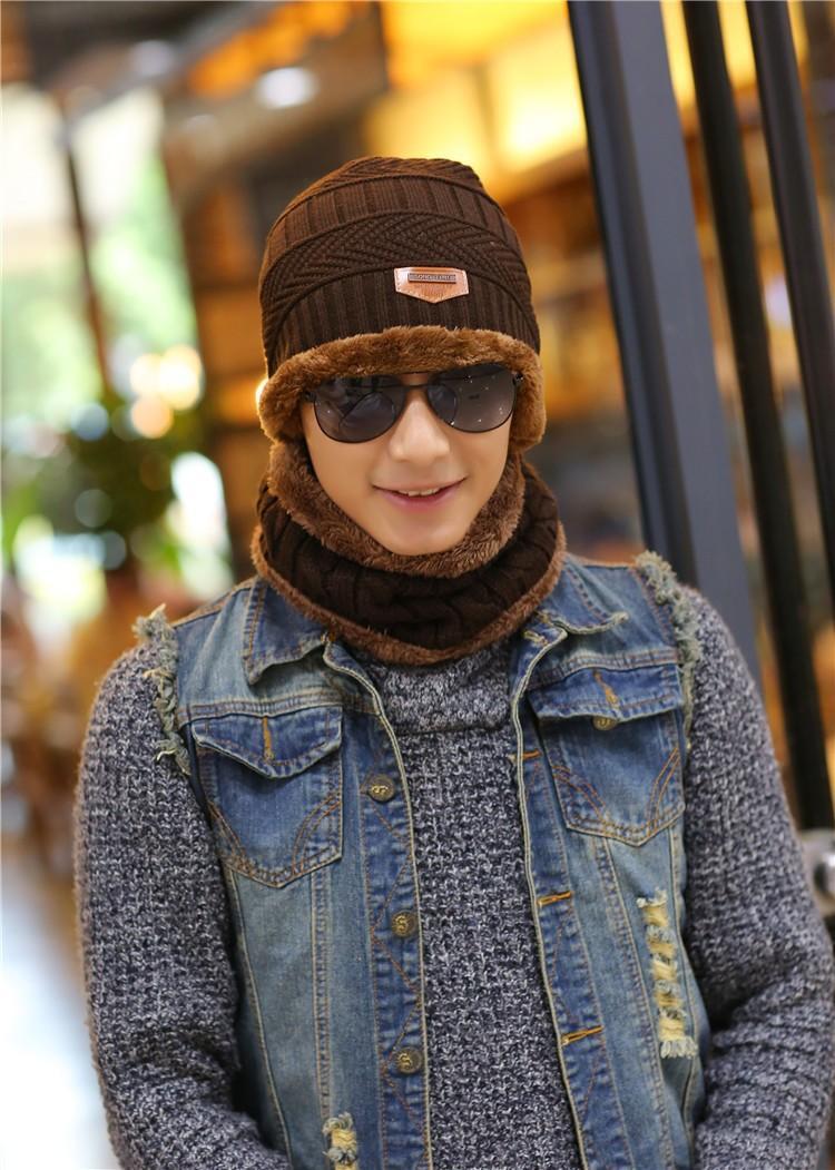 1bf1961edac Unisex Fashion Arrival Beanies Knitted Hat Men s Winter Hats For Women Men  Caps Gorros Warm Moto Fur Winter Beanie Fleece Knit Bonnet Hat - intl