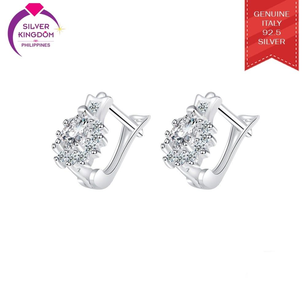 Silver Kingdom 92.5 Italy Silver CE94 Clip Earrings for Women's