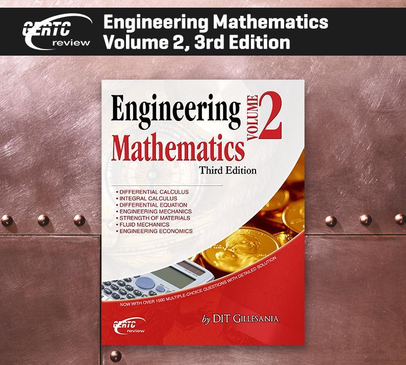 ENGINEERING MATHEMATICS VOLUME 2 3RD EDITION Gillesania GERTC Engineering Books