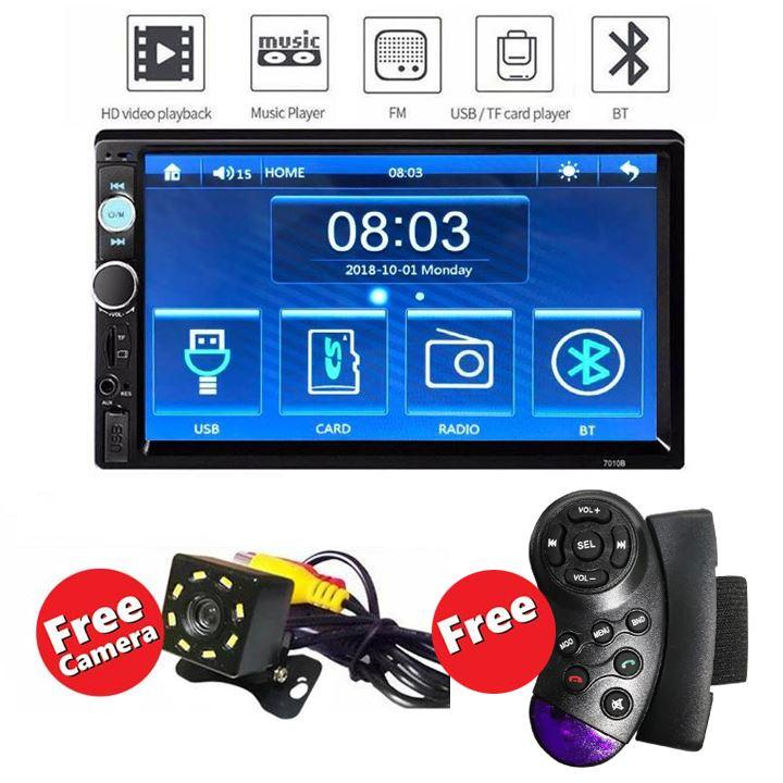 7 inches HD 2DIN Bluetooth Touch Car Stereo Radio MP5/MP3 Player  USB/AUX/TF/FM Back up Camera TV Plus Ready Plus Reverse Camera