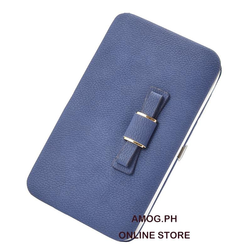 AMOG Korean Cute Ribbon Long Wallet Phone Holder Clutch Cellphone Wallet  Handbag Card Holder Clutch 108f99a2273fe