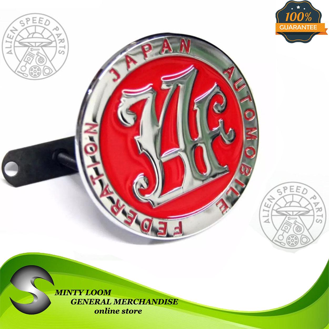 Jaf Badge Emblem For Grill (red) By Minty Loom General Merchandise.