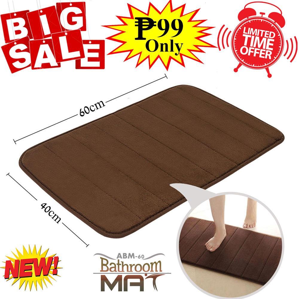 ad2e1f4b3d22 New ABM-60 Absorbent Soft Memory Foam Bathroom Mat Bedroom Floor Shower Non- Slip