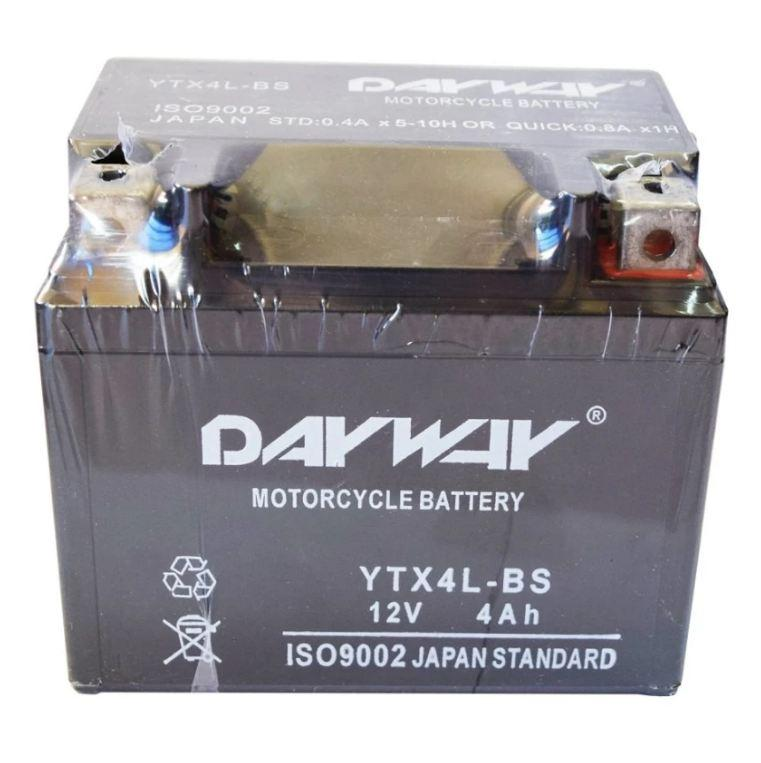 Motorcycle Battery Dayway YTX4L-BS(Black)