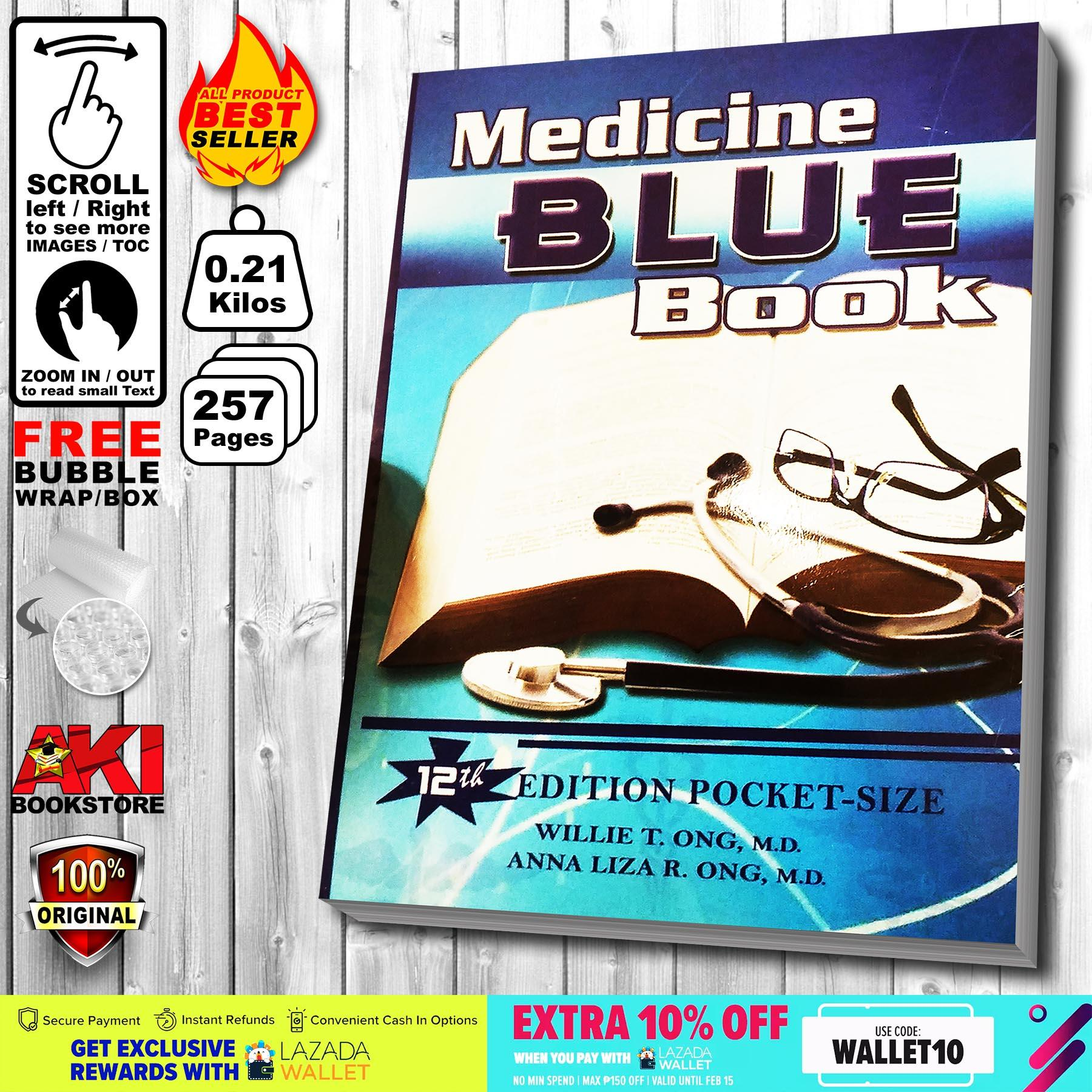 Authentic Medicine Blue Book 12th Edition Pocket-Size Willie T. Ong & Anna Liza R. Ong By Aki Merchandise.