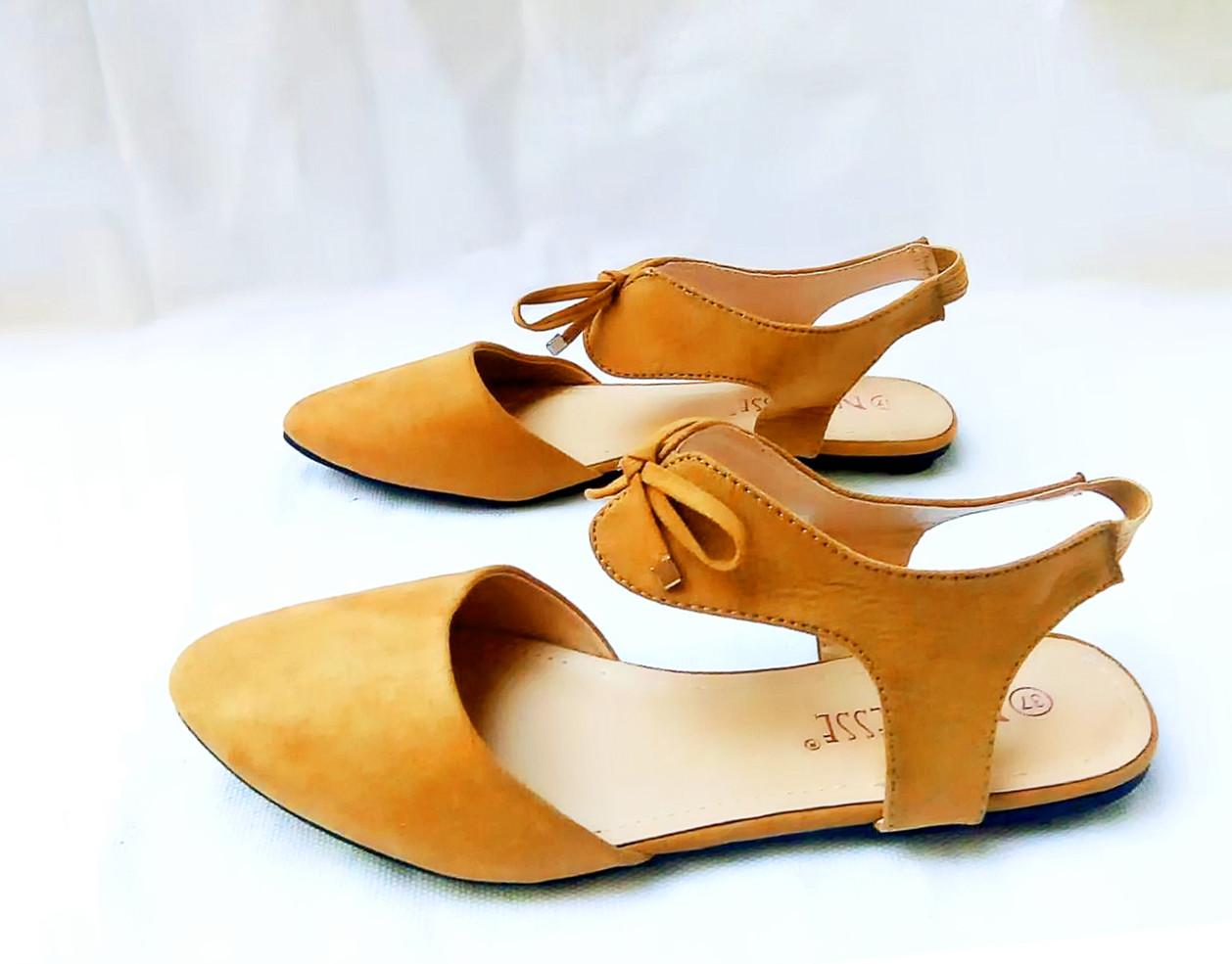 e172bef76925 Hanscp Women s Pointed Toe Ankle Strap Shoes Ballet Flats Spring Casual  Sandals  EB01052