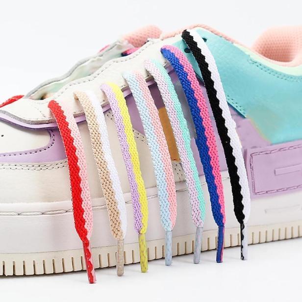 Giày Vải Nhiều Màu Giày Nhỏ Màu Trắng, Giày Đế Bằng, Phụ Kiện Giày Hai Lỗ Giày Dây Giày Dệt Dây Ren giá rẻ