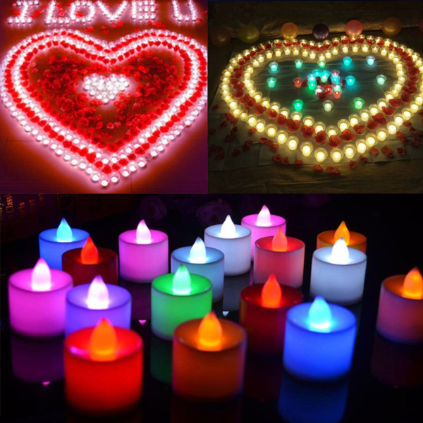 AAbest | Free Gift Creative LED Candle Multicolor Lamp Simulation Color Flame Tea Light Home Wedding Birthday Party Decoration Christmas Decoration Halloween Decoration