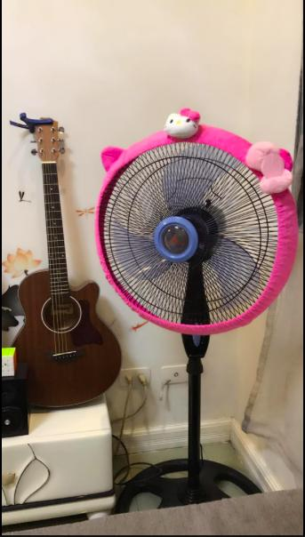 _hello kitty electric fan cover plain hot pink