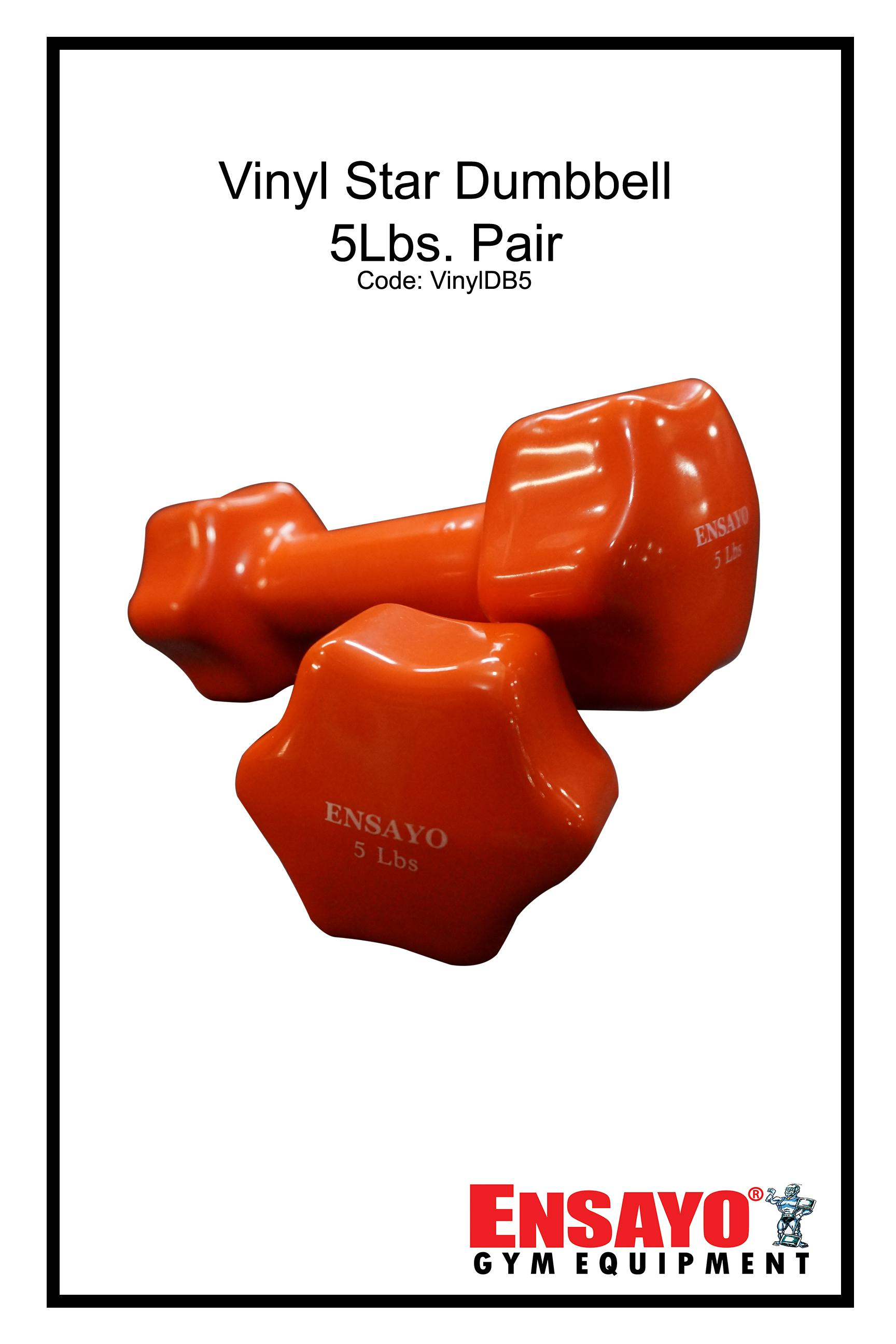 ab94a43b0aa Ensayo 5Lbs. Vinyl Star Dumbbells- Home Commercial gym use (Exercise Workout