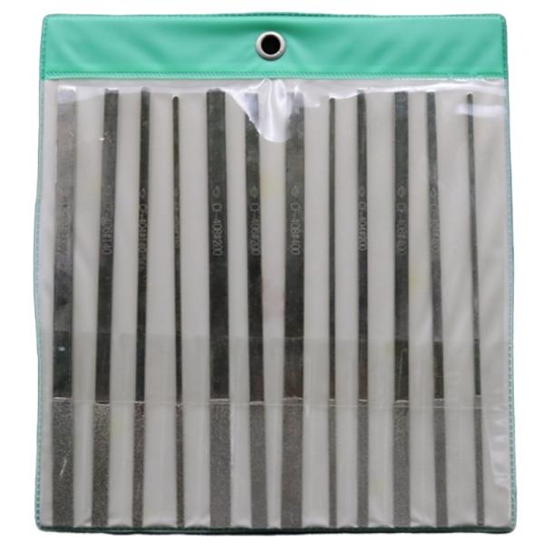 Needle File for 12 Pieces of 180mm Taper Diamond File CF-400 Die Sinker
