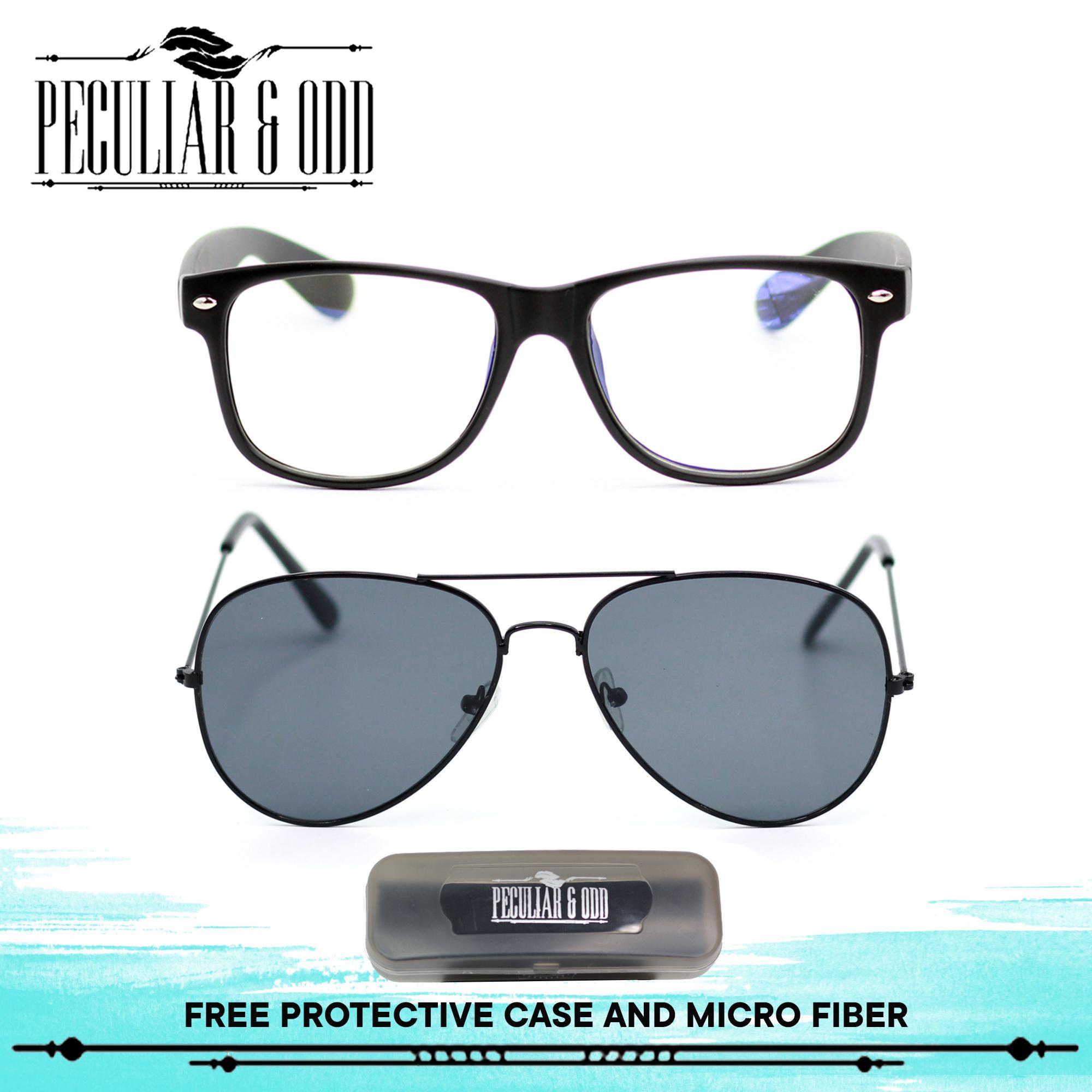 Peculiar Set of 2 8081 Black and 13025 Black Unisex Computer Eyeglasses  Anti Radiation   Gaming dae035b362e5