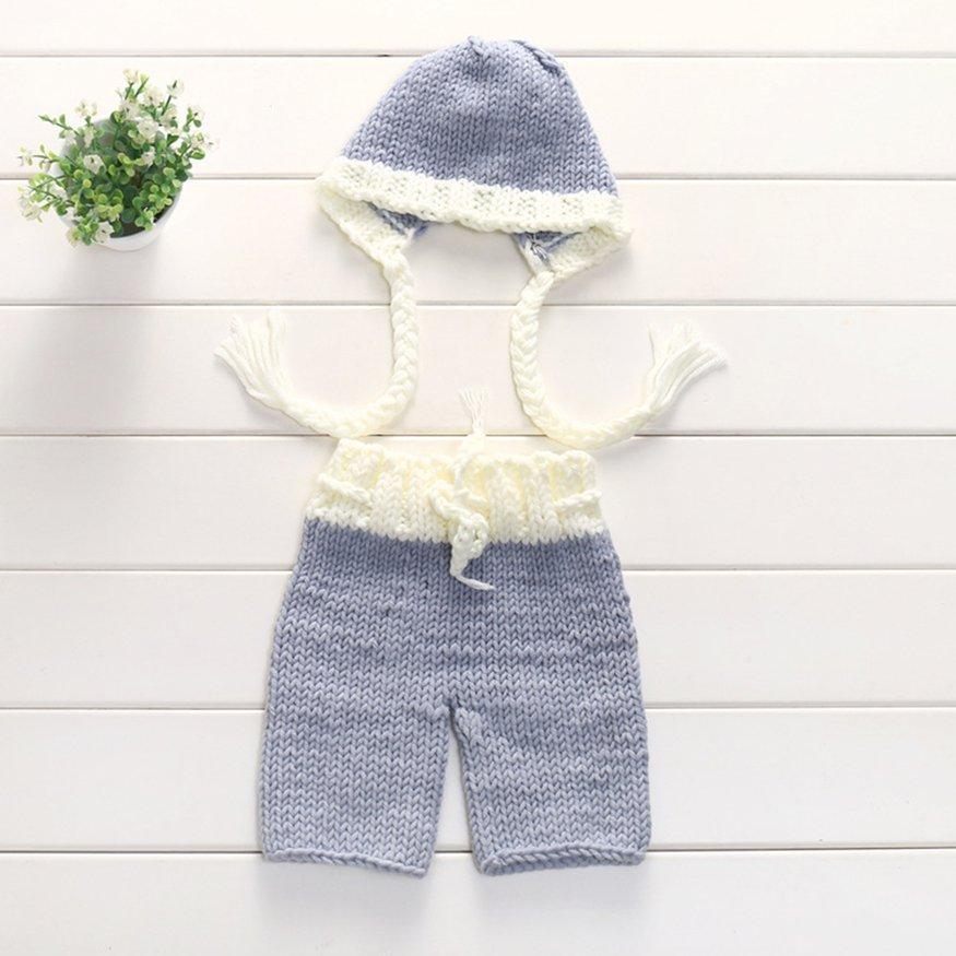 Osman Fotografi Bayi Baru Lahir Perlengkapan Kostum Wol Renda Pakaian Celana Topi