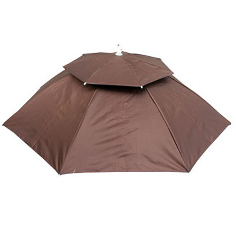 Portable Head Umbrella Anti-UV Anti-Rain Foldable Outdoor Travel Fishing Hat