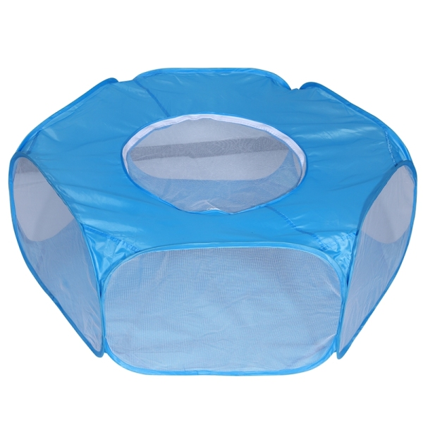 Small Animal Playpen Foldable Pet Cage with Top Cover Anti Escape Breathable Indoor Outdoor Yard Fence for Kitten Puppy Guinea Pig Rabbits Hamster Ect