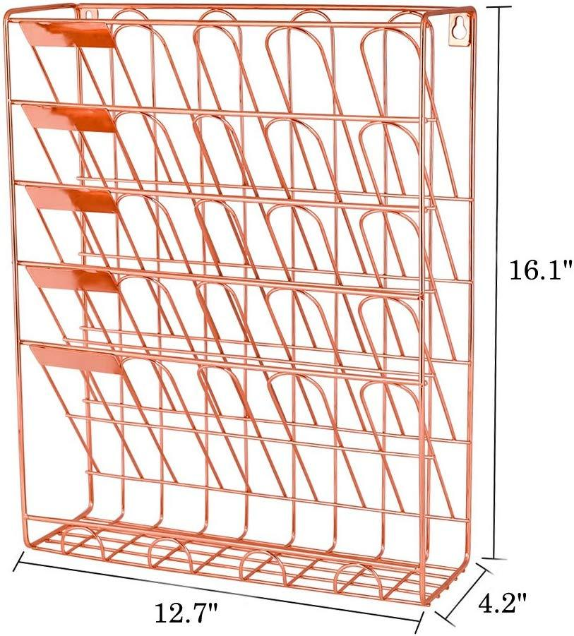 6 Tier Wall Mount Document Letter Tray Organizer