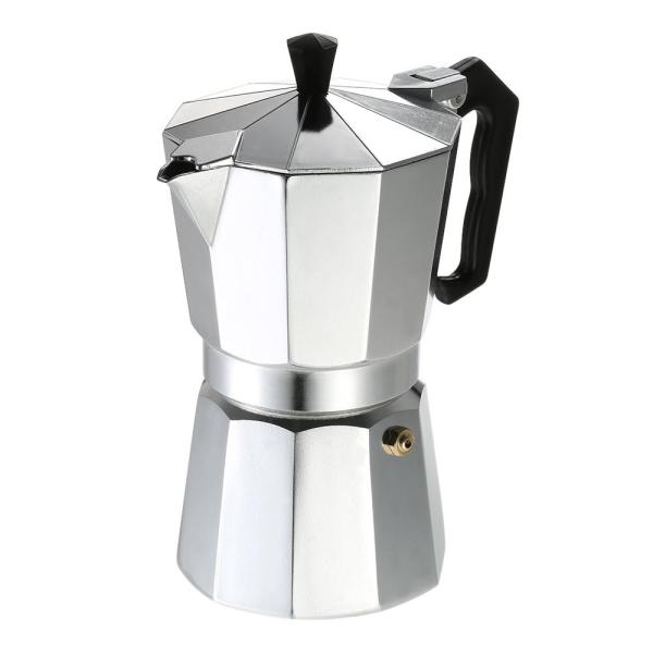 9-Cup Aluminum Espresso Percolator Coffee Stovetop Maker Mocha Pot for Use on on Cooker Gas Stove Electrothermal Furnace