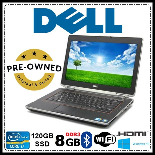 Dell Latitude E6420 Intel Core i7 (2nd Generation)/ 8gb RAM/ 120gb SSD with  FREE A4tech Webcam and USB Mouse
